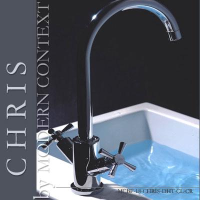 Contemporary Chris Dual Handle Chrome Bathroom Faucet