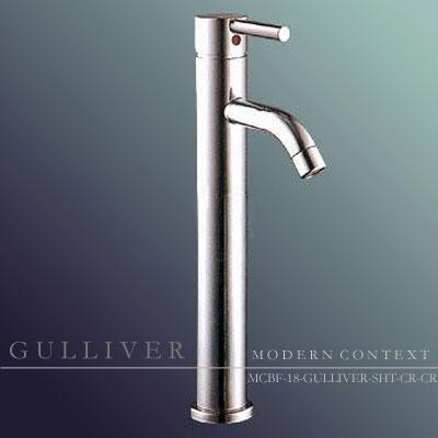 Contemporary Gulliver Single Handle Chrome Bathroom Faucet