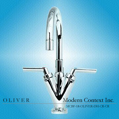 Modern Oliver Luxury Dual Handle Bowl Bathroom Faucet