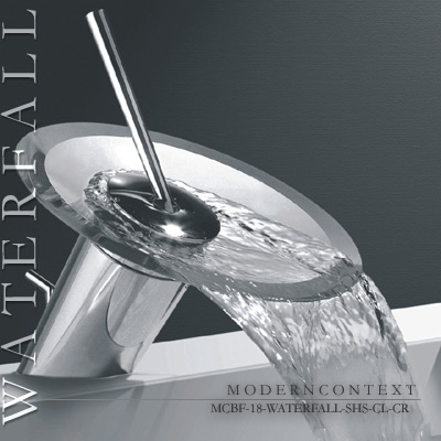 Waterfall Faucet Glass Bathroom Faucet Short