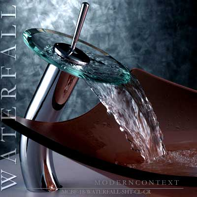 Waterfall Faucet Tall for Modern Bathroom Bowl
