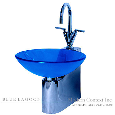 Lagoon Sink in Cobalt Blue