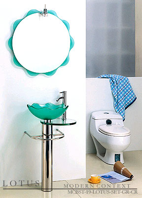 Lotus Complete Bathroom Sink Set With Mirror