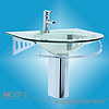 Full Transparent Glass Basin Sink